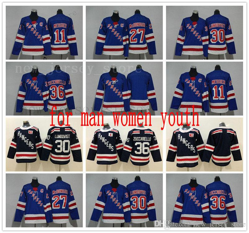 Men Kids Women New York Rangers Hockey Jerseys White 30 Henrik Lundqvist  Dark Blue Winter Classic 36 Mats Zuccarello All Stitched For Youth Youth 11  Mark ... 6468e8dbe