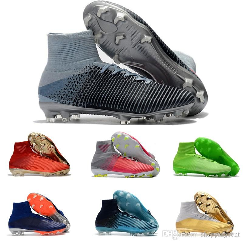 1a8dc34f3 2019 Hot Sale Mens Soccer Boots Mercurial Superfly CR7 V Ronaldo FG High  Ankle Magista ACC Soccer Shoes Neymar JR Phantom Outdoor Soccer Cleats From  ...