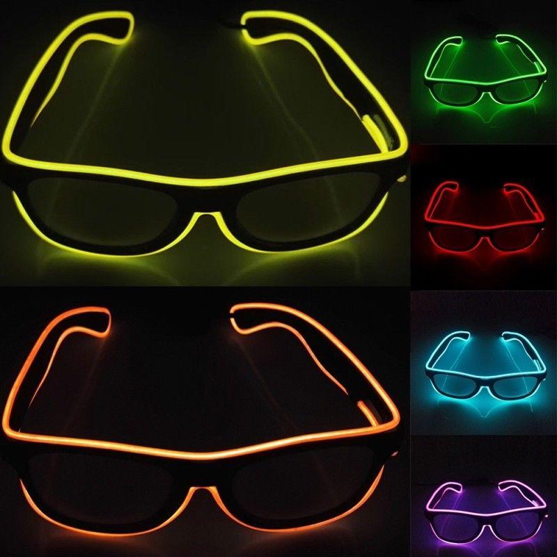 Купить Оптом Fashion Party Glasses El Wire Glass Halloween Xmas Birthday  Party Bar Декоративные Светящиеся Неоновые Очки 10 Цветов Nna856 300 ... 4f1ccf59ec4