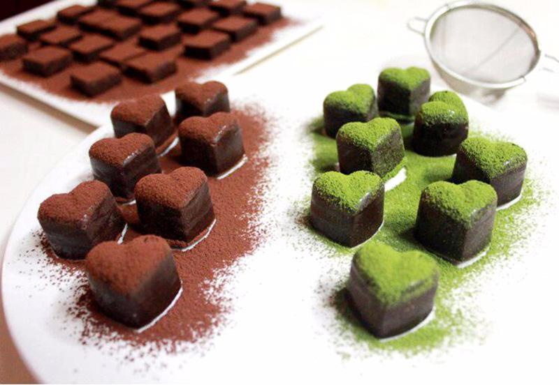 200 adet yapışmaz Silikon Çikolata Kalıpları Aşk Kalp Şeklinde Jöle Buz Kalıpları Kek Kalıp Bakeware Pişirme Araçları
