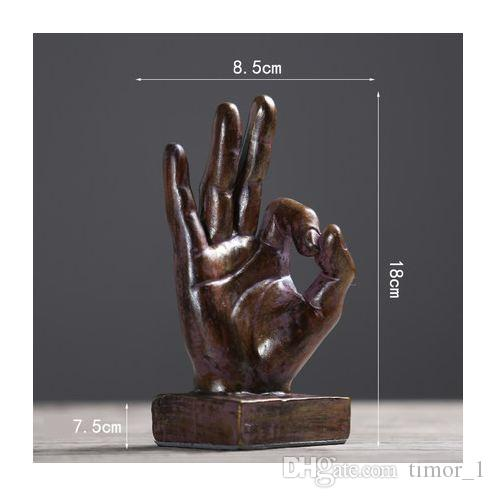 Retro Home Decorations Victory Gestures Hand Ornaments Creative ...