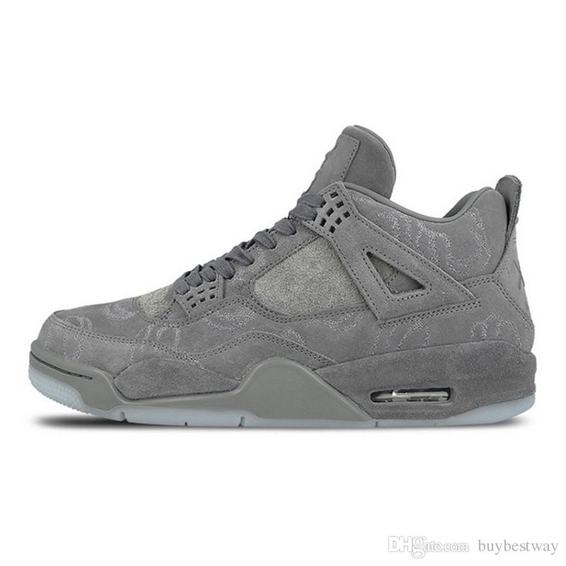 3ff2bfbcf72a72 2019 HOT KAWS X 4 XX Kaws Cool Grey White Black Glow Basketball Shoes Mens  Best Quality White Blue Black XZ29 From Buybestway