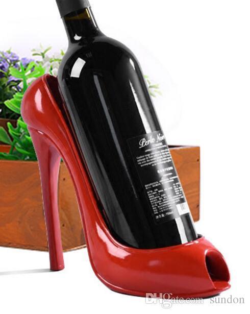 2019 High Heel Shoe Wine Bottle Holder Shoes Design Silicone Wine Bottle  Holder Rack Shelf For Home Party Restaurant From Sundon b5700c5393a5