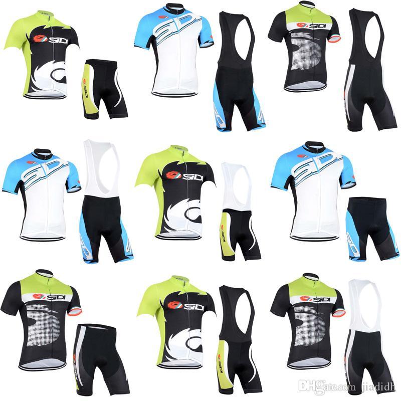 SIDI Team Cycling Short Sleeves Jersey Bib Shorts Sets 2018 Cycling ... 7b8d3aeca