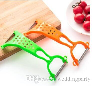 متعددة الوظائف مزدوجة رئيس آلات تقشير البطاطس الفواكه سكين التقشير الخضروات مقشرة المعادن أدوات المطبخ الثوم عشوائية