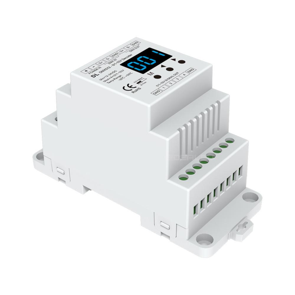 Großhandel Dmx Dimmer Dmx512 Zu 0 10v 4 Kanal Decoder Dmx512 Signal ...