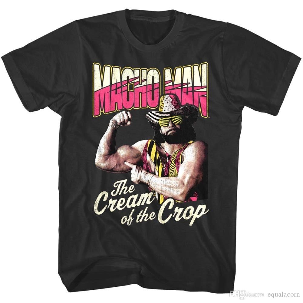 91b8c2fb06b32e Macho Man Randy Savage Cream Of The Crop Men S T Shirt Wrestling Legend  Muscles Awesome T Shirts For Guys Cool Tee Shirt Designs From Equalacorn