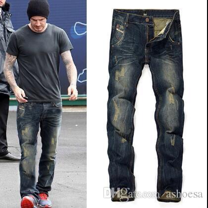 f8c6a72f9 2019 Mens Boys Jeans Super Stretch Fit Denim Jeans Middle Waist Pants Slim  Fit SIZE:28 40 From Ashoesa, $70.06 | DHgate.Com