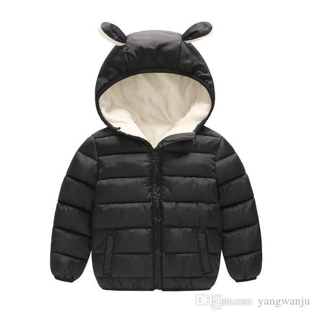 ef299a983 Children Warm Outerwear Boys Girls Winter Thicken Pure Color Jacket ...