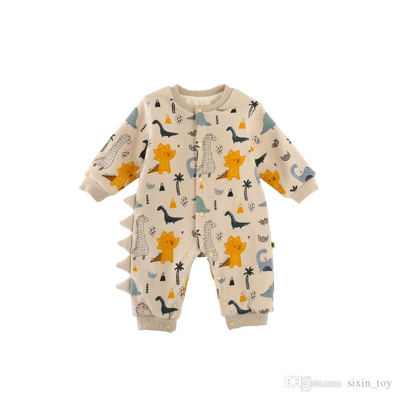 cd6629bad973 INS Boys Girls Baby Rompers Cotton Newborn Onesies Clothing Cartoon  Dinosaur Toddler Romper Boutique Infant Jumpsuits Clothes Dinosaur Toddler  Romper Baby ...