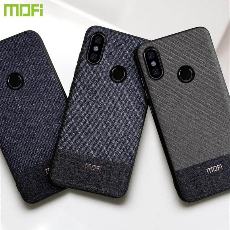 buy online 21fbd cd71f For Xiaomi Redmi Note 6 Pro Case Mofi Redmi Note 6 Pro Case Fabric Cloth  Business Dark Handcraft Gentleman Redmi Note6 Pro Case