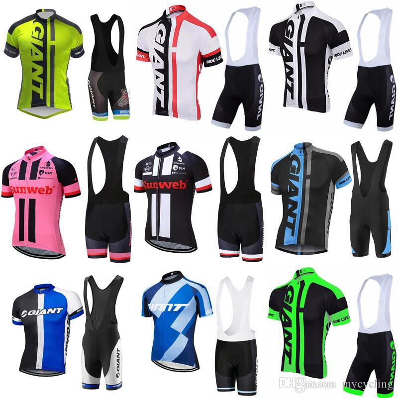 2a9cb72a6 GIANT 2018 Pro Cycling Set MTB Bicycle Wear Bicycle Maillot Ropa Ciclismo  Bike Uniform Cycling Jersey Suit Cycling Clothing C2904 Cycle Clothes Biking  ...
