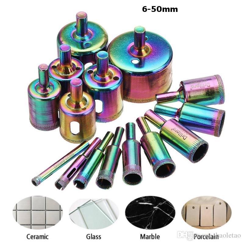 6-50mm Titanium Diamond Hole Saw Drill Bit Set Tile Ceramic Glass Marble Drill Bits