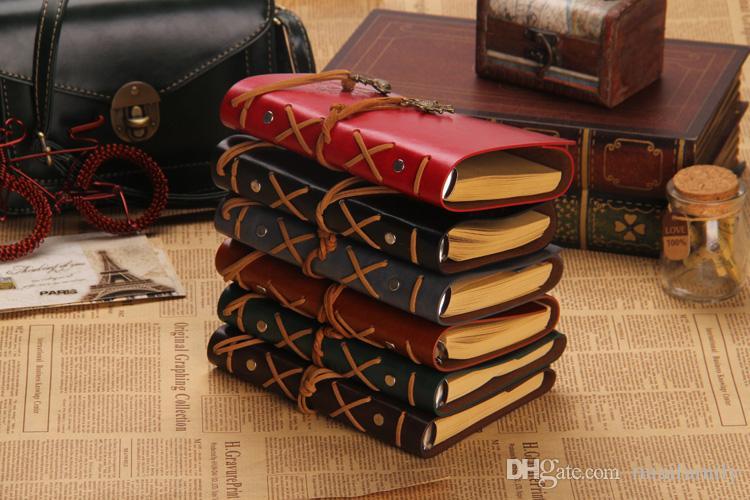 Wholesale-خمر بحري التطبيقية فو جلدية الغلاف مجلة يوميات فارغة سلسلة دفتر شحن مجاني