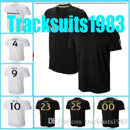 c4d587cb7 2019 Rugby 2018 2019 Jersey LAFC Carlos 10 Vela GABER 9 ROSSI CIMAN  ZIMMERMAN 18 19 Los Angeles Fc Home Away Jerseys AAA From Tracksuits1983