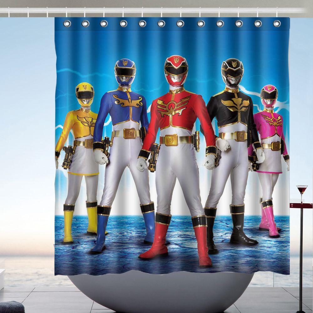 2019 Power Rangers 02 Custom 66 X72 Waterproof Polyester Fabric Bathroom Shower Curtain From Littemanthree 2513