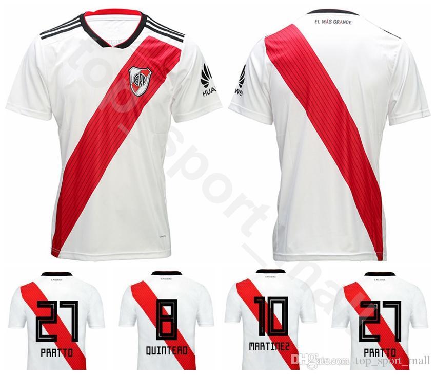 Club Atlético CA River Plate Jersey Hombre 10 MARTINEZ Equipo De Camiseta  De Fútbol 20 CASCO 19 BORRE 27 PRATTO Uniforme 32 SCOCCO 7 MORA Por ... 47e8c9bdd6932