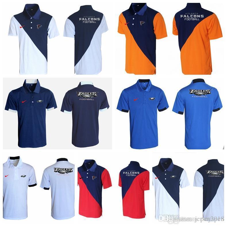 992c575f1da 2018 Men's New Rugby T-shirt Philadelphia Eagles Atlanta Falcons  CowboysJacksonville Jaguars Green Bay Packers Evergreen Polo Various s