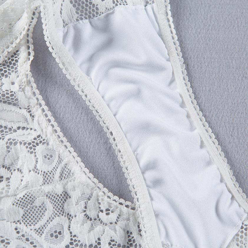 Femmes Dames Dentelle Floral Briefs Culottes Voir-à travers la Lingerie Sous-vêtements Culottes Personnalisé Sexy Fancinante Womens Slip