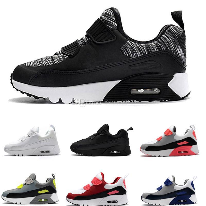 the best attitude a93f7 b3c39 Acheter Nike Air Max 90 Chaussures De Sport Enfants Classiques 90 Chaussures  De Course Noir Blanc Chaussures De Sport Enfants Bébé Fille Surface ...