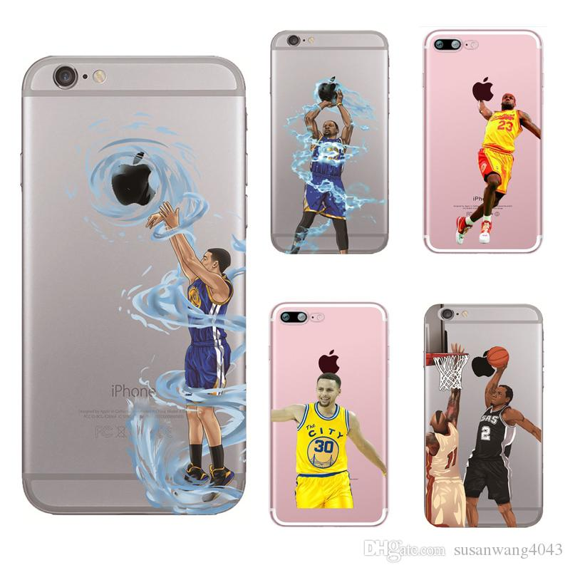 pretty nice b7d04 b280e Curry Kobe LeBron KD Basketball phone case for Iphone X XR XS Max 8 7 6 6s  plus 5s S7 S8 S9 soft TPU cover painting defender cases GSZ398