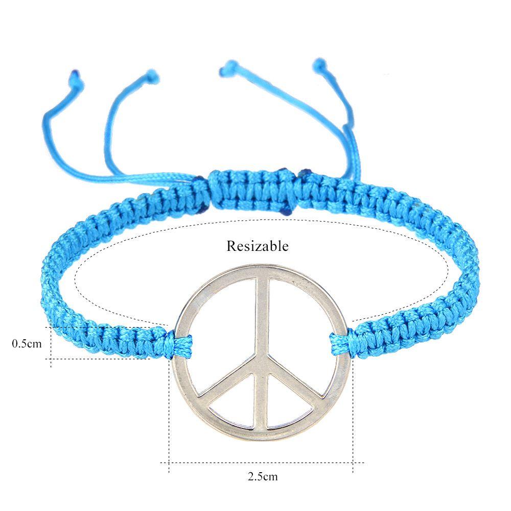 Avrupa ve Amerikan örgülü el zinciri barış sembolü mark han kombinasyonu kombinasyonu el halat takı Charm Bilezikler