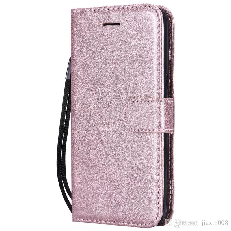 online retailer 360c6 ab237 Wallet Case For Samsung Galaxy J2 Pro 2018 Flip Cover Pure Color PU Leather  Mobile Phone Bag Coque For Galaxy J2 PR0 2018