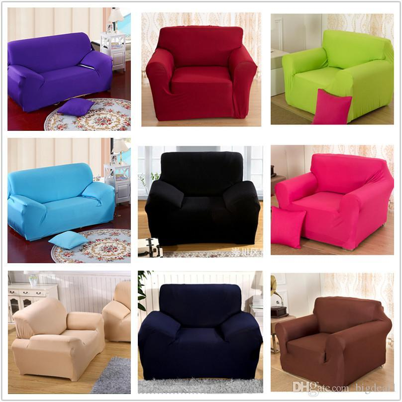 Innovative Textile Spandex Sofa Cover Furniture Protector Solid ...
