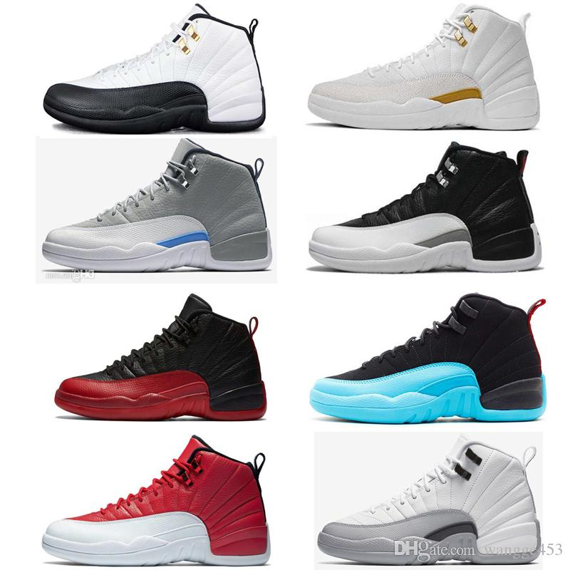 ba7cf645e9a9 Wholesale 2018 12 Bordeaux Dark Grey Wool Basketball Shoes White Flu Game  UNC Gym Red Taxi Gamma French Blue Suede 12 Sneaker Shoe Sneakers On Sale  East Bay ...