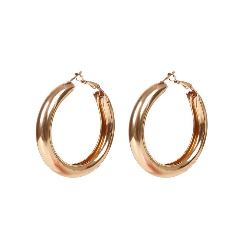 62677500d270 Compre Nueva Moda Estilo Simple Color Oro Plata 5 CM Pendientes De Aro Para  Las Mujeres Hueco Círculo Pendiente Regalos Del Partido XR A  2.4 Del ...