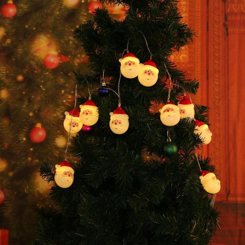 De 1 Guirlande Noël Lampe 10 Lumineuse Maison Père Fée Décoration Lumière Led 5m Christma Balle String O0nP8wk