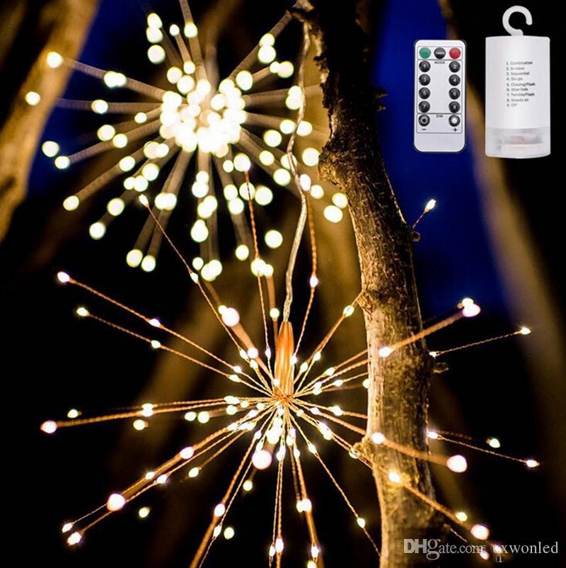 Fuochi d'artificio a led con luce stringa di rame Bouquet Shape LED String Lights Luci a batteria con telecomando per feste di matrimonio
