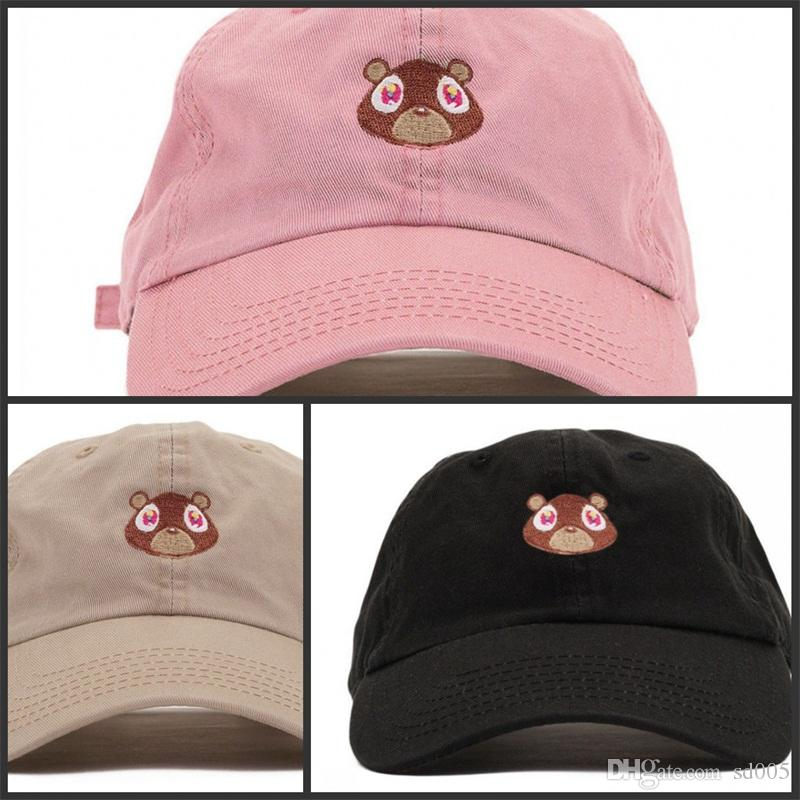 5bbc9f4e9243f Fashion Unisex Baseball Cap Kanye West Dropout Bear Women Adjustable Dome  Solid Color Character Cute Hats Designer Hat 14xh Hh Hats And Caps Skull  Caps From ...