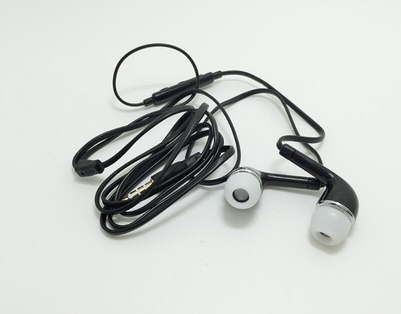 Nuevos auriculares Auriculares intrauditivos con micrófono y auriculares estéreo remotos de 3,5 mm para Samsung Galaxy S7 S6 S5 S4 blanco negro