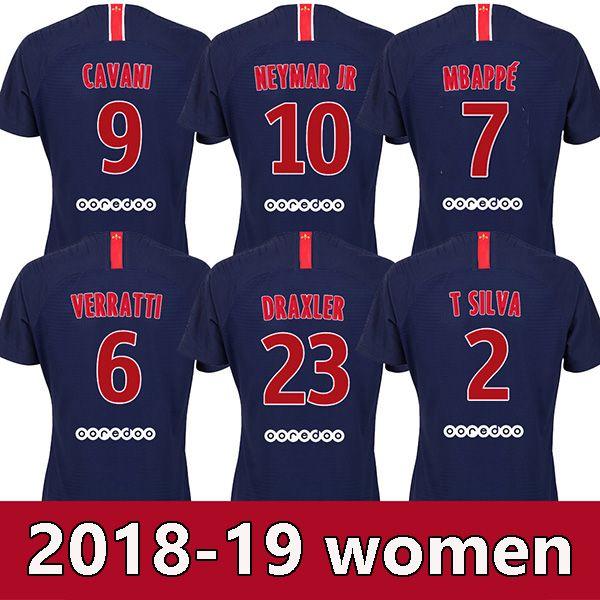 0f8fa8ece0f 2019 Women PSG 18 19 MBAPPE Soccer Jerseys 2018 2019 CAVANI DANI ALVES Girl Football  Shirt VERRATTI Camiseta DI MARIA RABIOT Maillot From Isoccer