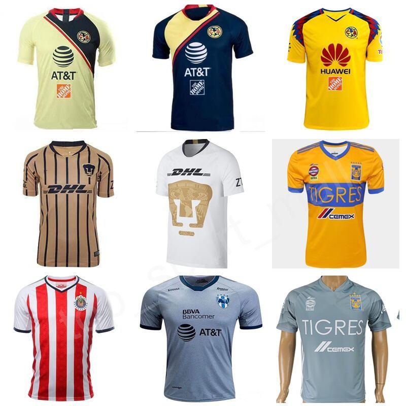 Compre MEXICO Clube LIGA MX FC Camisas De Futebol América Chivas  Guadalajara UNAM Rayados Tigres De Monterrey UANL Camisa De Futebol Kits Homens  Uniforme Da ... 7c7c53f758e5b