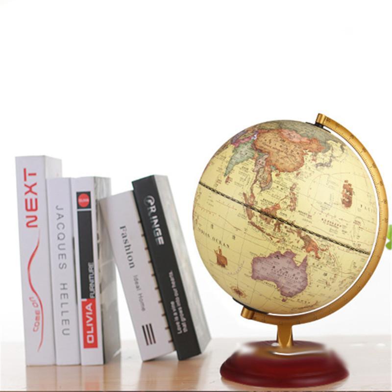 2019 Retro Led Globe Table Desk Lamp Student Child 25cm American