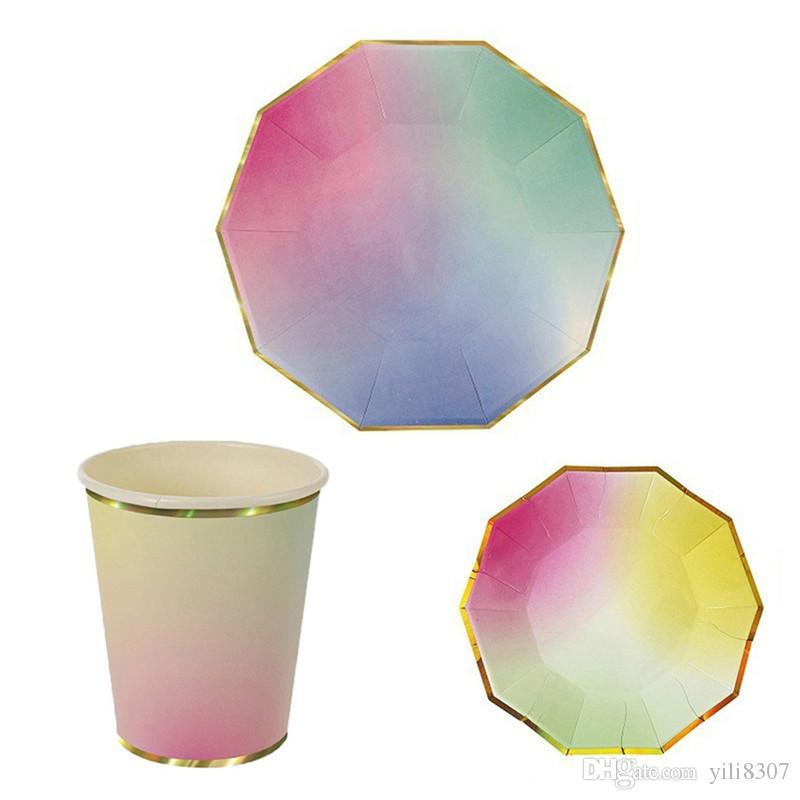 Wholesale Creative Illusive Colored High End Disposable Tableware ...