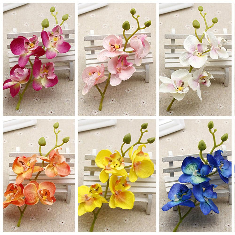 2018 Silk Artificial Orchid Bouquet For Home Wedding Party