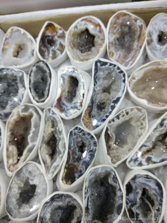 Beautiful Natural Agate treasure basin agate geode quartz crystal Raw Rock Agate furnishing articles