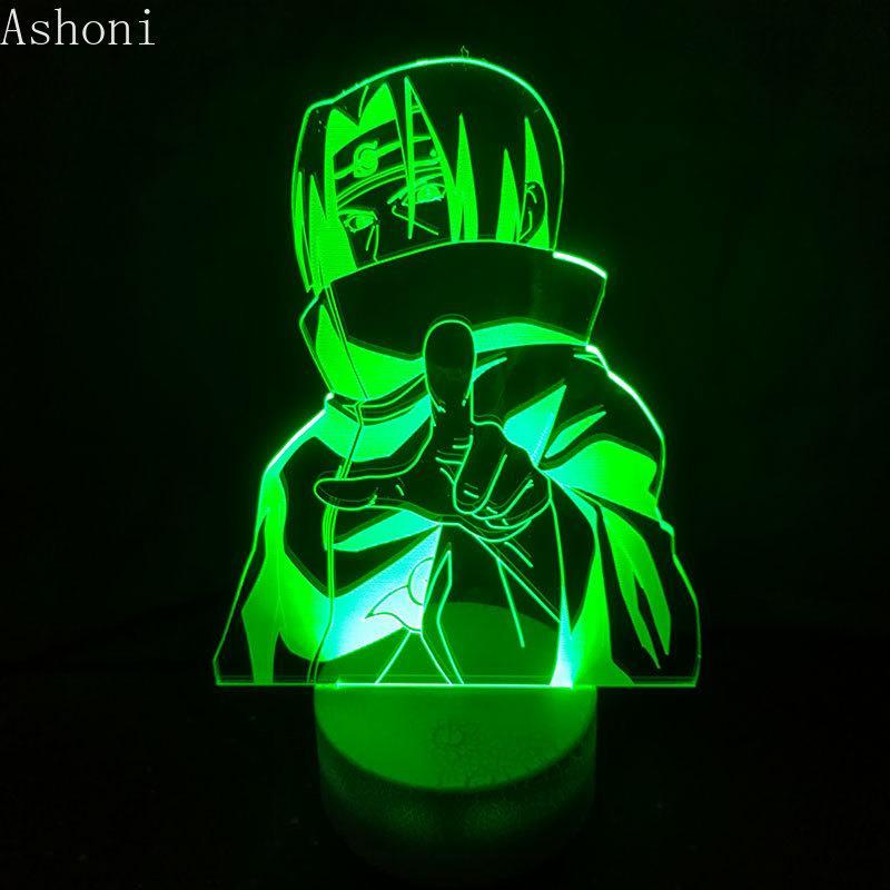 Acheter Naruto 3d Lampe De Table 7 Changement De Couleur Led Enfants
