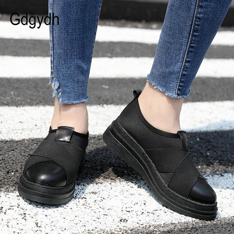 2019 Gdgydh 2018 Spring Autumn Women Vulcanize Shoes Comfortable Slip On  Ladies Casual Shoes Stretch Fabric Black Sneakers Outside Sneakers Shoes Uk  Pumps ... c59587e7a8d