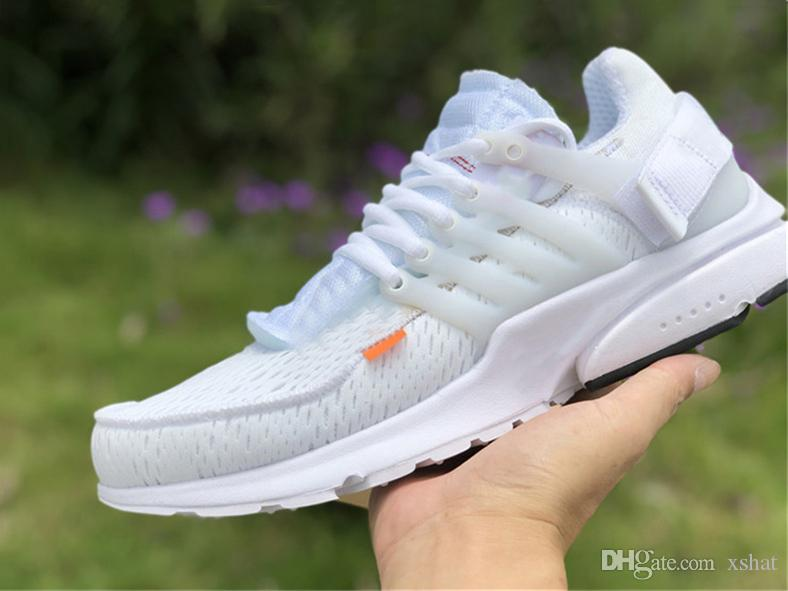 the latest a3b76 74c00 Cheap Hot Sale Off Shoes Presto 2.0 Cream White Black Running Shoes,Best  Quality Ten AA3830-100 Virgil Designer Sneakers Size 36-46