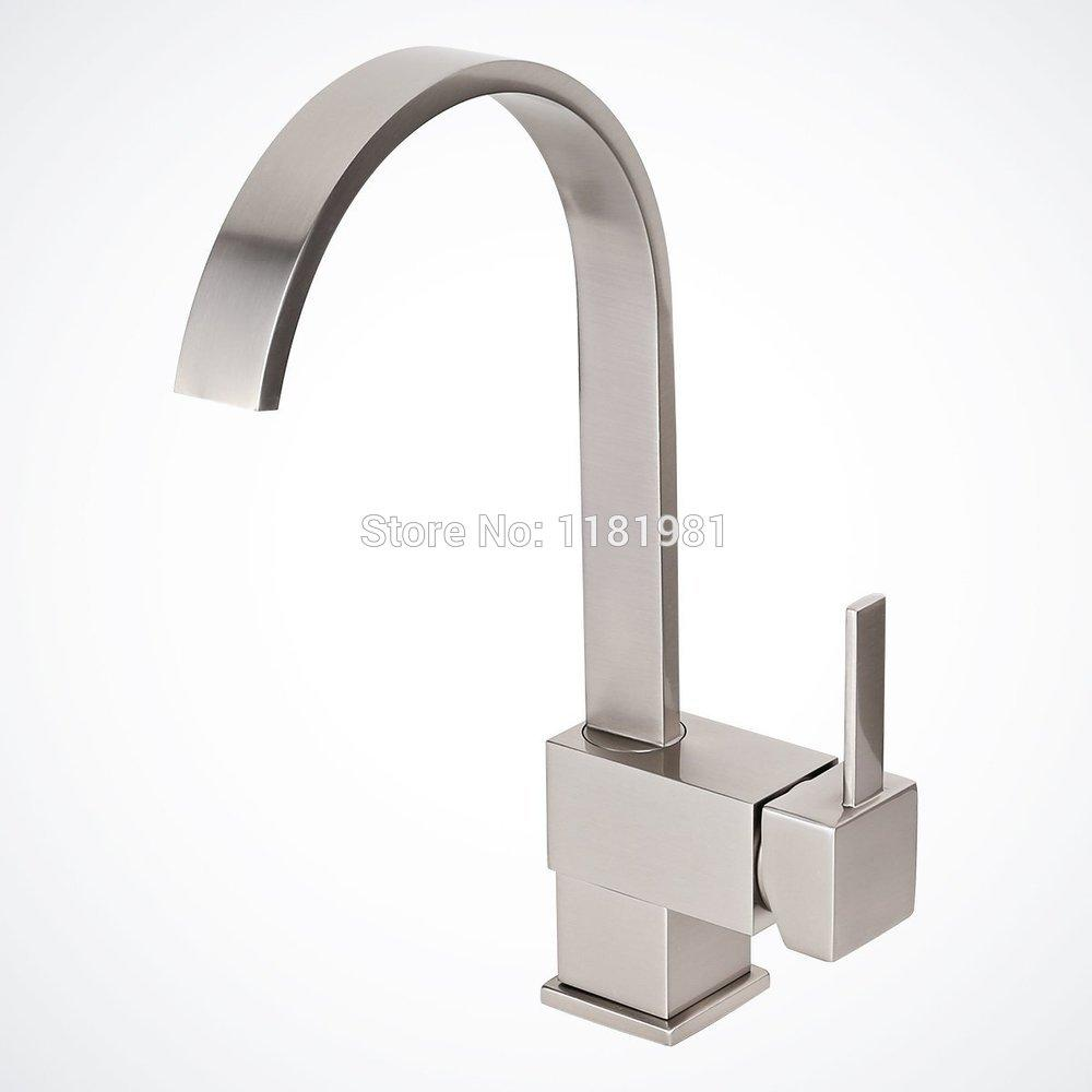 2019 Brushed Nickel Kitchen Bathroom Vessel Sink Faucet Single