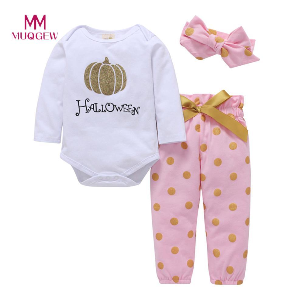 f07c5eae4dc9 2019 2018 New Arrival Baby Girl Boy Clothes Long Sleeve O Neck Cotton Print  Thicker Striped Hooded Romper Jumpsuit Baby Clothing Set From Oliveer