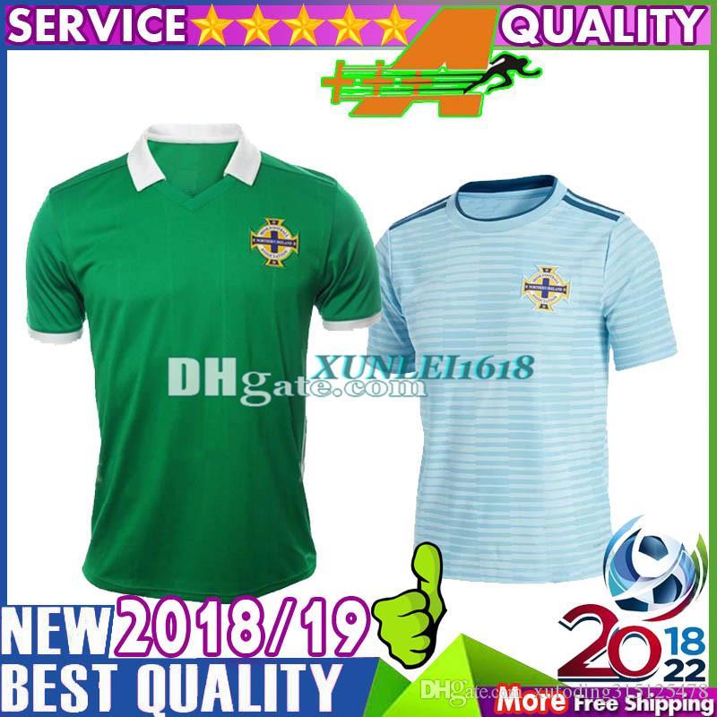 42b54658d 2019 Top Thai Quality Northern Ireland Soccer Jerseys 2018 Home Green Away  Sky Blue Tuaisceart Eireann McNAIR K.LAFFERTY DAVIS Football Shirts From ...