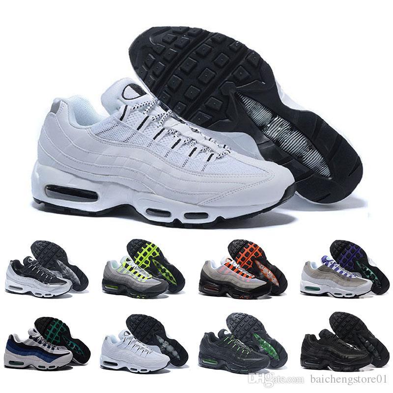 sale retailer 89cc5 d5db9 Acquista Nike Air Max 95 Airmax Drop Shipping Scarpe Da Corsa Uomo Cushion  95 OG Sneakers Boots Authentic 95s Nuovo Walking Sconto Scarpe Sportive  Taglia 36 ...