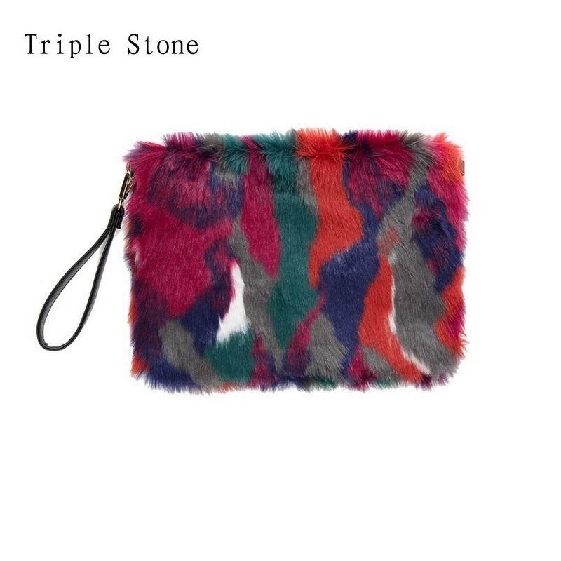 a220aa9d7d8c Winter Mixed Colors Women Fur Clutches Envelop Luxury Handbags Hit Color  Ladies Flap Soft Messenger Bags Female Fashion Purses Leather Handbags  Ladies ...