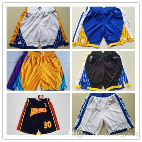 2019 New Men Golden State Warriors Basketball Shorts New Stitched ... 66b9ce6d4