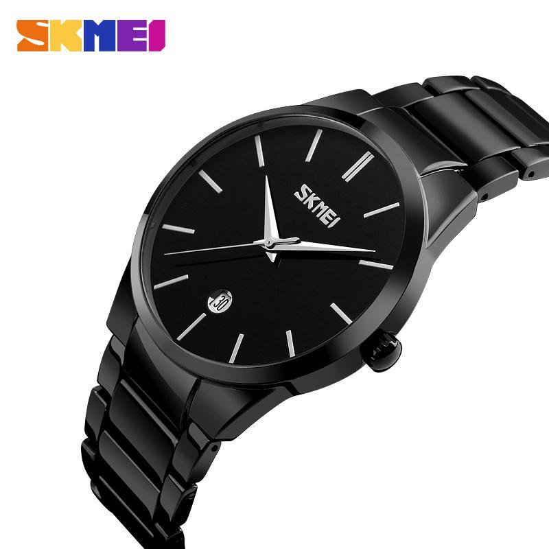 e29c38c62207 Compre Skmei 9140 Hombres Reloj De Cuarzo Simple Hombres Correa De Acero De  Aleación De Negocios Relojes Para Hombre Top Marca De Lujo Reloj De Pulsera  A ...